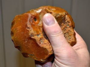 "An excellent and attractive Early Paleolithic ""Clactonian"" hand axe, Nacton, Ipswich. SOLD"